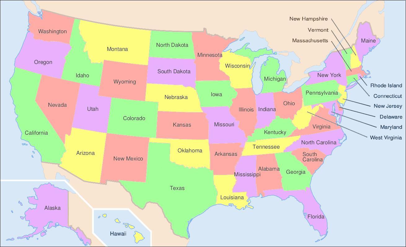 Americky Stat Mape Statna Mapa Usa Severna Amerika Amerika